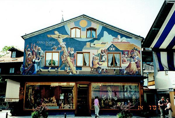 building in oberammergou, europe