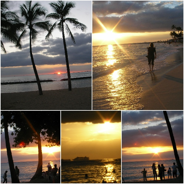 Hawaii, sunset, travel, US