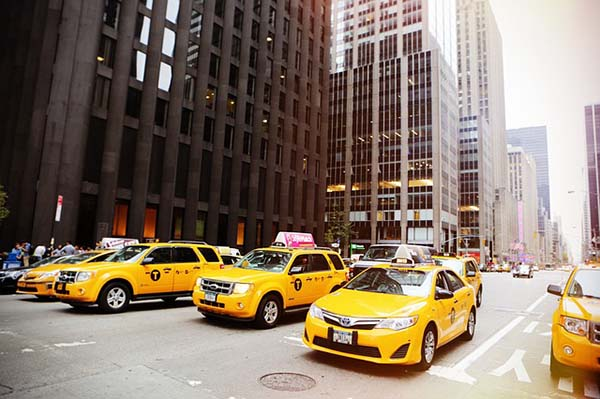 yellow-taxicabs-new-york. usa, travel