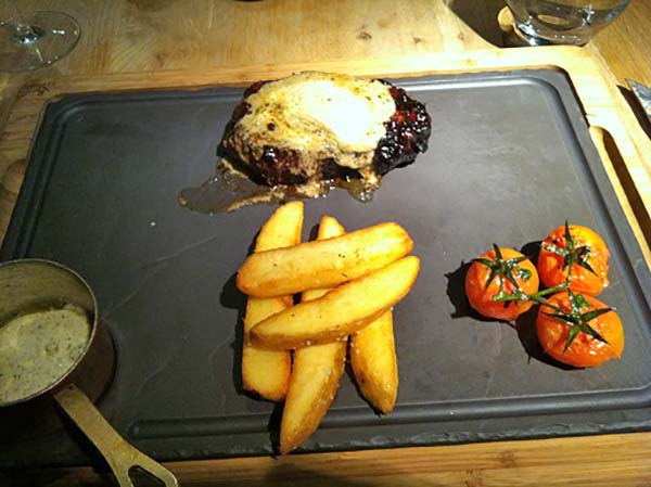 Signature Steak with Chips & Vine Ripened Tomatoes,meat-and-wine-co, Sydney, Australia, travel, traveltripz.com