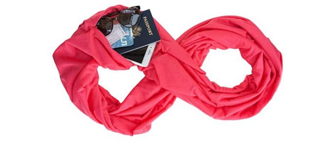 The Infinity Travel Scarf with a Hidden Pocket: Keep Your Valuables Safe When Traveling