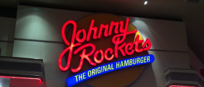 Dinner at the Johnny Rockets Diner Hollywood