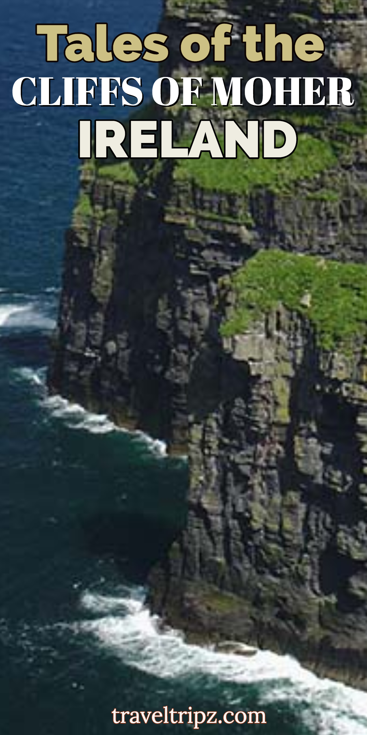 Travelling to Ireland the a visit to the spectacular Cliffs of Moher, is well worth the trip..Here are some of the old tales told of the cliffs. Spectacular views of the Cliffs of Moher.  #Ireland. #UK #CliffsofMoher #travel